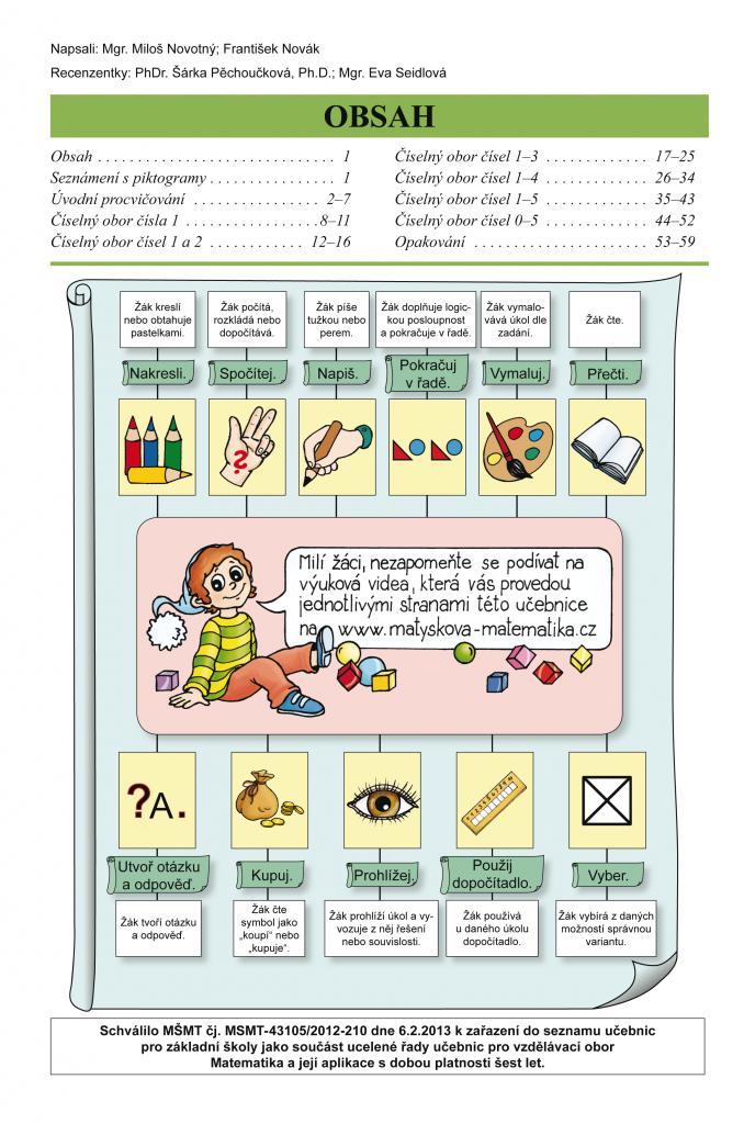 Matýskova matematika, 1. díl - Počítání do 5